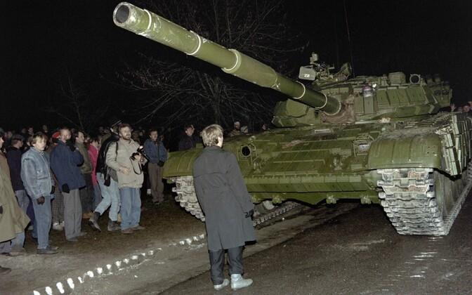 Nõukogude tank 13. jaanuaril Vilniuses