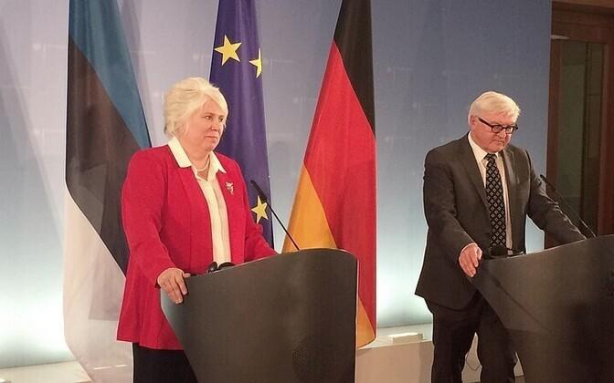 Marina Kaljurand and Frank-Walter Steinmeier