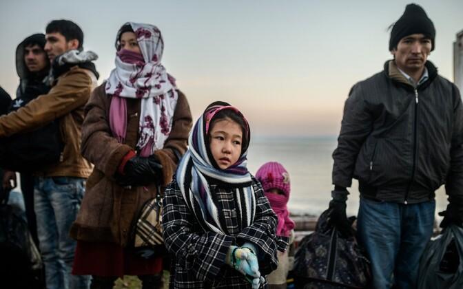 Süüria ja Afganistani migrandid ja pagulased.