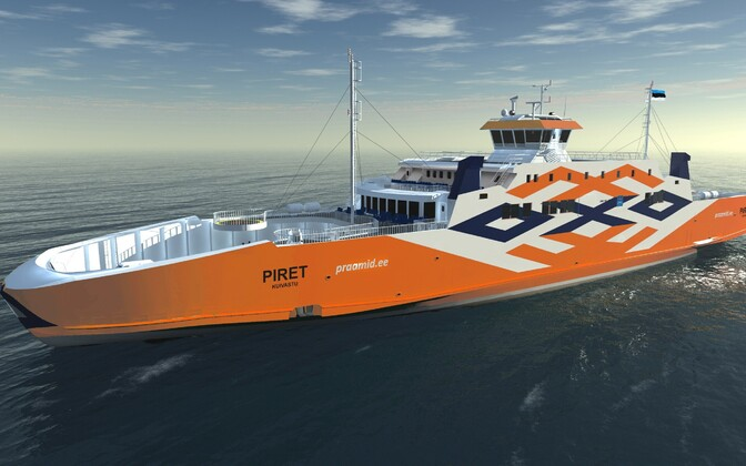 A render of one of the Port of Tallinn's four new ferries, the Piret.