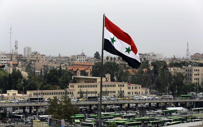 Süüria lipp Damaskuses.