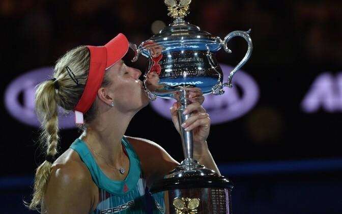 Angelique Kerber alistas Austraalia lahtiste meistrivõistluste finaalis maailma esireketi Serena Williamsi.
