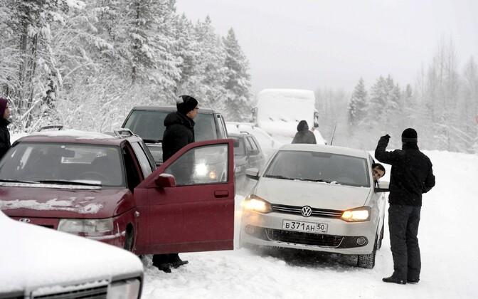 Varjupaigataotlejad Venemaa poolel Soome piiri lähistel