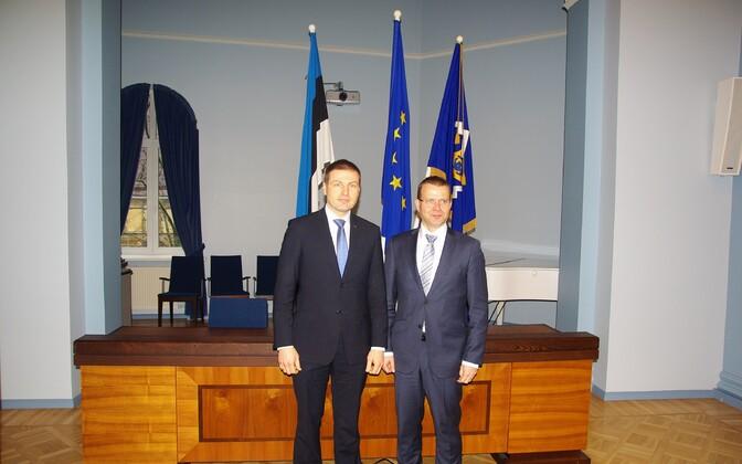 Hanno Pevkur and Petteri Orpo.