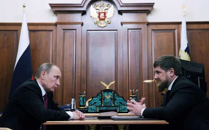 Vladimir Putin ja Ramzan Kadõrov.