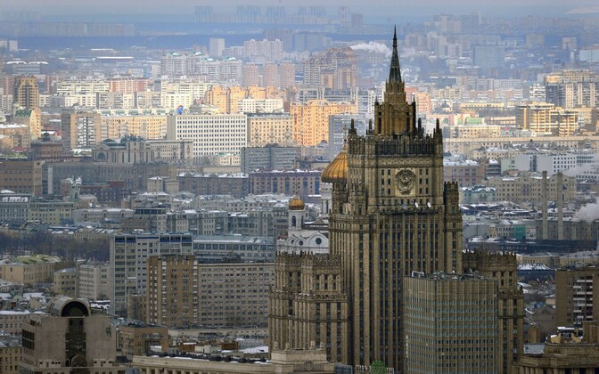 Russian Ministry of Foreign Affairs building in Moscow.