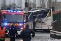 Avariisse sattunud buss.