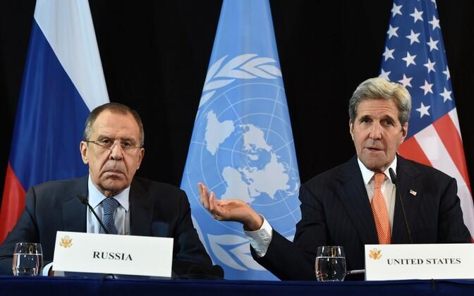 Sergei Lavrov ja John Kerry.