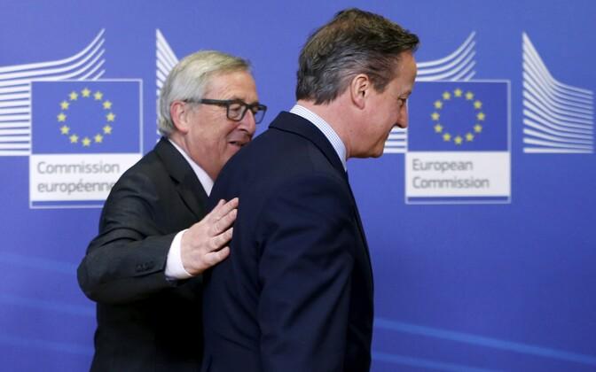 Euroopa Komisjoni president Jean-Claude Juncker ja Briti peaminister David Cameron 29. jaanuaril Brüsselis