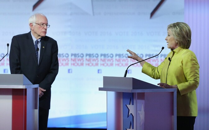Sanders ja Clinton
