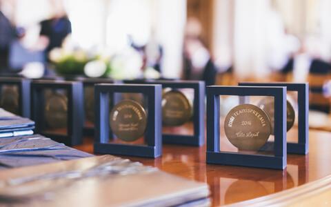 Teadus- ja kultuuripreemiate üleandmine mullu 24. veebruaril Teaduste Akadeemia saalis.
