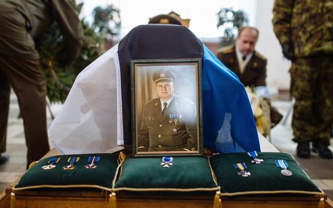 Retired Captain Harri Henn's funeral