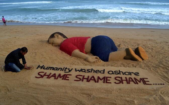 Foto uppunud Aylan Kurdist sai maailmas palju vastukaja