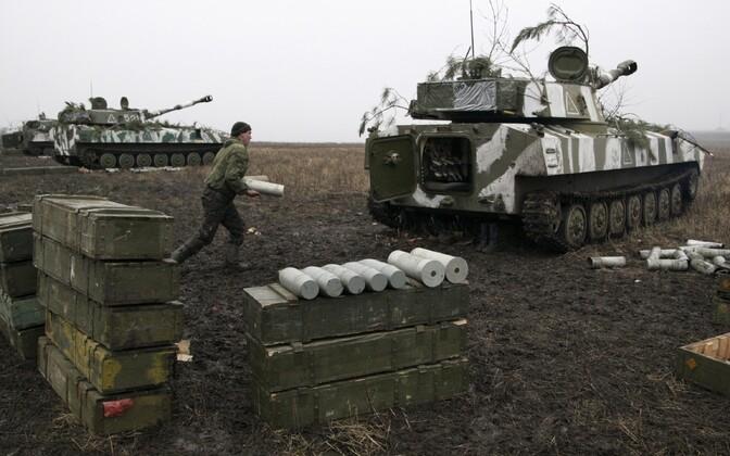 Isehakanud Donetski rahvavabariigi relvajõudude õppused Donetski lähedal 2016. aasta veebruaris.