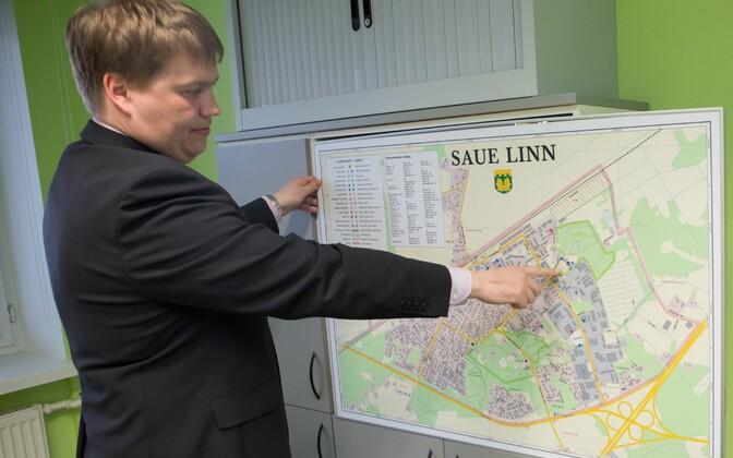 Saue linna kaart