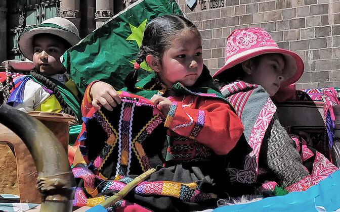 Ketšua lapsed Cuzcos