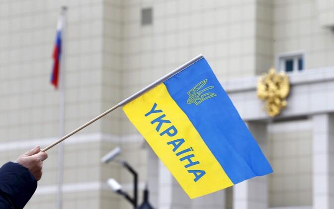 Meeleavaldus 9. märtsil Minskis Venemaa saatkonna juures