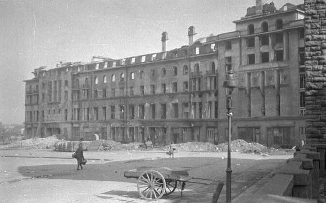 Estonia Concert Hall after the Soviet bomb raid