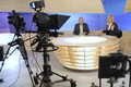Teleuudistesaade AK: saatejuhid Aarne Rannamäe ja Monika Tamla. 2009