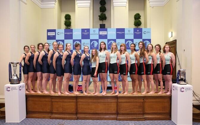Oxfordi ja Cambridge'i naiste kaheksapaadid, Elo Luik vasakult viies