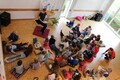 Estonian children's author Kairi Look visiting Luxembourg Estonian School for Native Language Day.