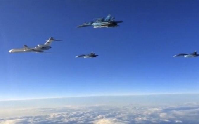 Vene sõjalennukid teel Süüriast tagasi Venemaale, 15. märts