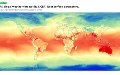 Näide NCEP-i prognoosimudeli ennustusest