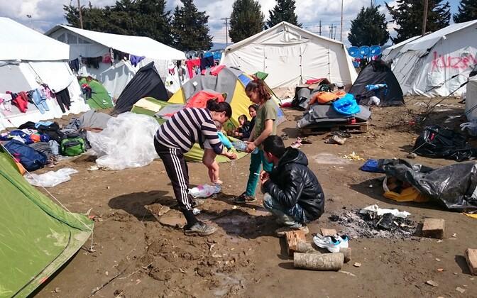 Idomeni põgenikelaager 2016. aasta märtsis.