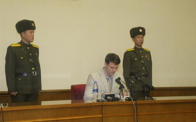 21-aastane Otto Frederick Warmbier veebruaris võimude korraldatud pressikonverentsil