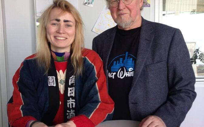 Kris Lemsalu ja Tiit Pääsuke said möödunud aastal hakkama ühisnäitusega. Tamara Luuk kureeris.