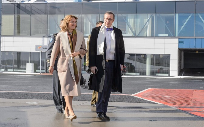 First Lady Ieva and President Toomas Hendrik Ilves on a state visit to Croatia. March 21, 2016.