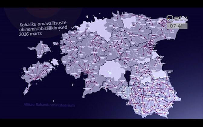 Haldusreformi kaart.
