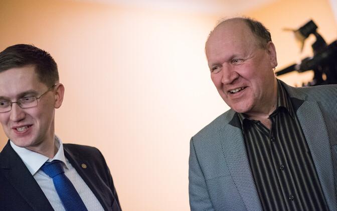 EKRE fraktsiooni liikmed Jaak Madison ja Mart Helme.