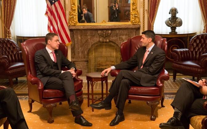 Prime Minister Taavi Rõivas meeting Speaker Paul Ryan