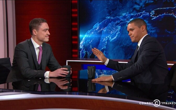 Estonian Prime Minister Taavi Rõivas on The Daily Show with Trevor Noah.