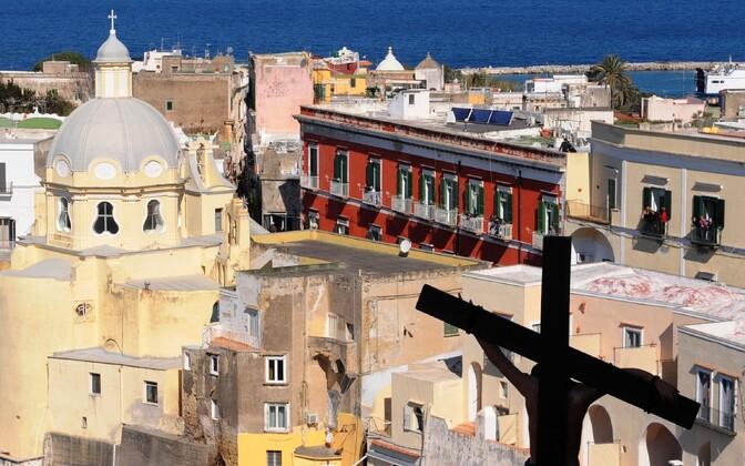 Procida saar, Napoli laht, Itaalia.