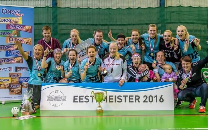 Sparta Spordiselts tuli naiste arvestuses saalihokis Eesti meistriks.