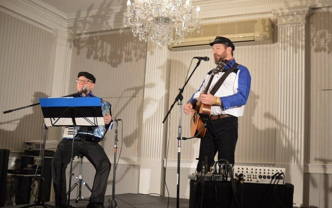 One grant helped bring Marko Matvere and Peep Raun to the recent Estonian Cultural Days in NYC. March 26, 2016.