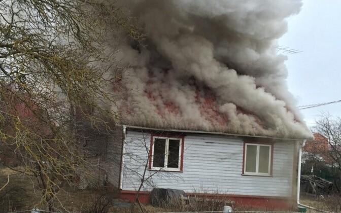 Tulekahju Viljandis.