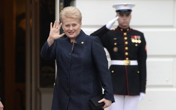 Leedu president Dalia Grybauskaitė Washingtonis