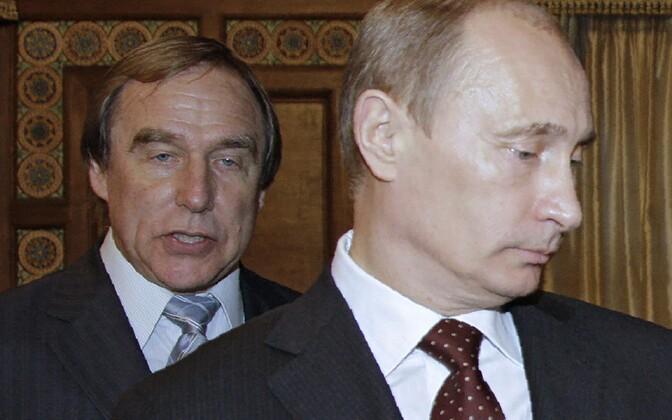 Tšellist Sergei Roldugin ja president Vladimir Putin.