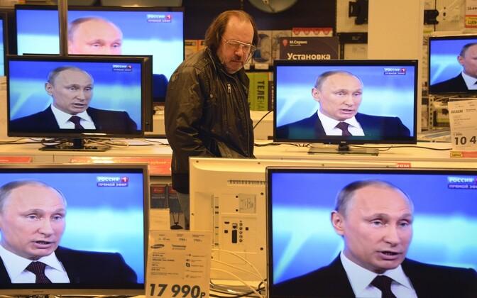 Vene telekanal kandmas üle Putini esinemist.