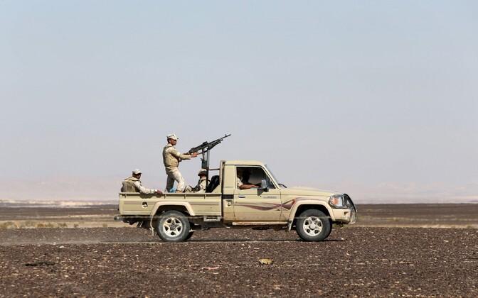 Egiptuse armee Siinai poolsaarel.