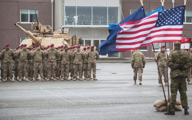 U.S. soldiers in Estonia.