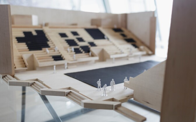 Model of the Baltic Pavilion. The project was introduced in Riga on Thursday