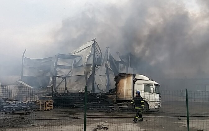 Teguri tänava põleng Tartus.