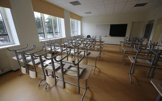 A high-school classroom in Estonia.