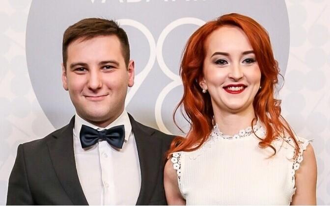 Владимир Свет и Ольга Селищева на президентском приеме 24 февраля 2016 года.