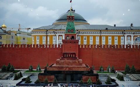 Мавзолей Ленина на Красной площади в Москве.
