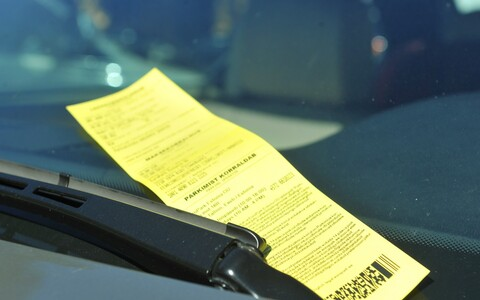 Parking ticket (image is illustrative).